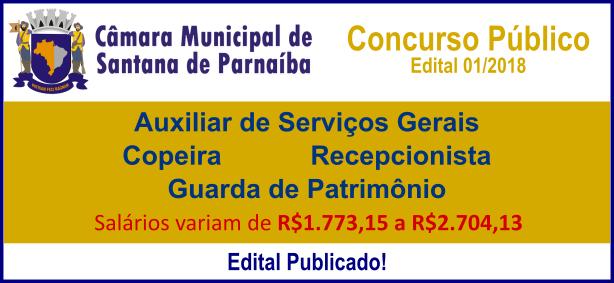 Concurso Câmara de Santana de Parnaíba / Realização: Instituto Mais / Imagem: Divulgação