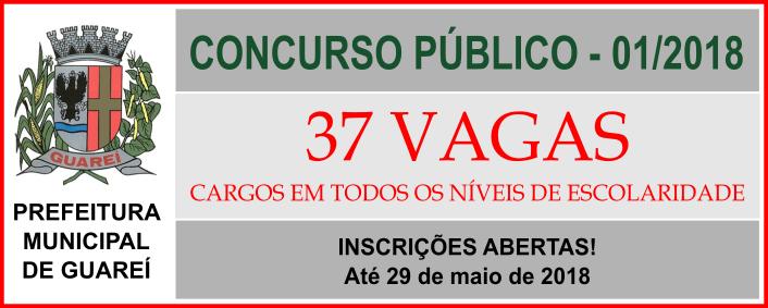 Concurso Público em Guareí / Realização: Instituto Mais / Imagem: Divulgação