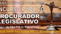 Concurso Público da Câmara de Assis / Realização: Instituto Mais / Imagem: Divulgação