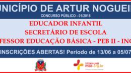 Concurso Público do Município de Artur Nogueira / Realização: Instituto Mais / Imagem: Divulgação