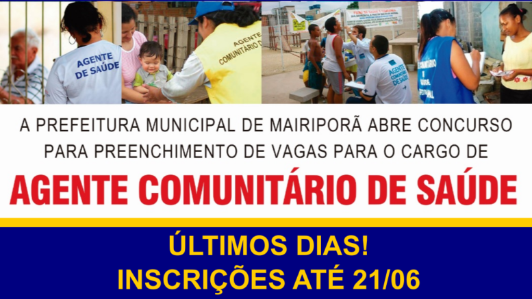 Concurso Público Mairiporã / Realização: Instituto Mais / Imagem: Divulgação