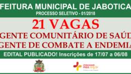 Processo Seletivo 01/2018 da Prefeitura de Jaboticabal / Realização: Instituto Mais / Imagem: Divulgação