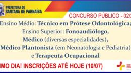 Concurso Público 02/2018 da Prefeitura de Santana de Parnaíba / Realização: Instituto Mais / Imagem: Divulgação