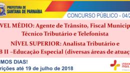 Concurso Público 04/2018 da Prefeitura de Santana de Parnaíba / Realização: Instituto Mais / Imagem: Divulgação