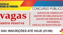 Concurso Público 05/2018 da Prefeitura de Santana de Parnaíba / Realização: Instituto Mais / Imagem: Divulgação