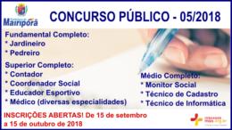 Concurso Público 05/2018 da Prefeitura de Mairiporã / Realização: Instituto Mais / Imagem: Divulgação