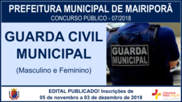 Concurso Público 07/2018 da Prefeitura de Mairiporã / Realização: Instituto Mais / Imagem: Divulgação