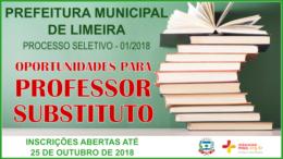 Processo Seletivo 01/2018 da Prefeitura de Limeira / Realização: Instituto Mais / Imagem: Divulgação