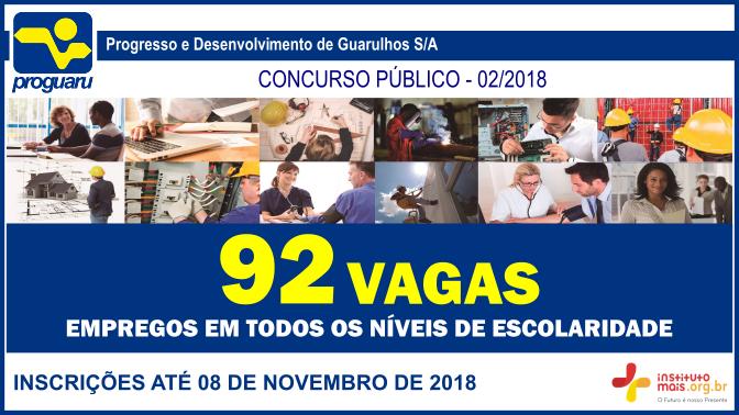 Concurso Público 02/2018 da PROGUARU / Realização: Instituto Mais / Imagem: Divulgação