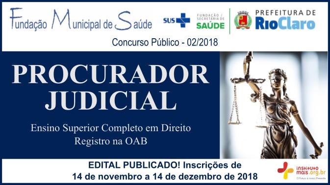 Concurso Público 02/2018 da Fundação de Saúde de Rio Claro / Realização: Instituto Mais / Imagem: Divulgação