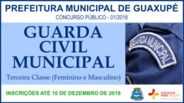 Concurso Público 01/2018 da Prefeitura de Guaxupé / Realização: Instituto Mais / Imagem: Divulgação