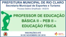 Processo Seletivo Simplificado 04/2018 da Secretaria Municipal de Esportes e Turismo de Rio Claro / Realização: Instituto Mais / Imagem: Divulgação
