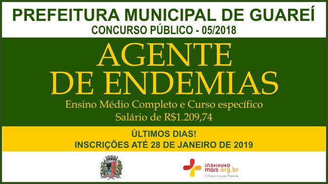 Concurso Público 05/2018 da Prefeitura de Guareí / Realização: Instituto Mais / Imagem: Divulgação