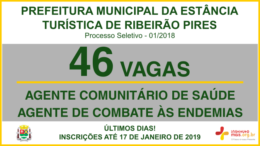 Processo Seletivo 01/2018 da Prefeitura de Ribeirão Pires / Realização: Instituto Mais / Imagem: Divulgação