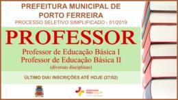 Processo Seletivo Simplificado 01/2019 da Prefeitura de Porto Ferreira / Realização: Instituto Mais / Imagem: Divulgação