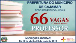 Concurso Público 01/2019 da Prefeitura de Cajamar / Realização: Instituto Mais / Imagem: Divulgação