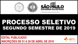 Processo Seletivo 2º Semestre de 2019 da SP Escola de Teatro / Realização: Instituto Mais / Imagem: Divulgação