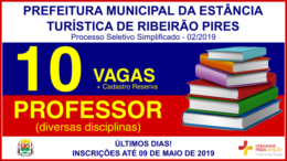 Processo Seletivo Simplificado 02/2019 da Prefeitura de Ribeirão Pires / Realização: Instituto Mais / Imagem: Divulgação