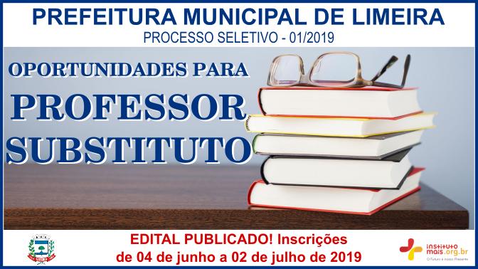 Processo Seletivo 01/2019 da Prefeitura de Limeira / Realização: Instituto Mais / Imagem: Divulgação