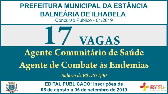 Concurso Público 01/2019 da Prefeitura de Ilhabela / Realização: Instituto Mais / Imagem: Divulgação