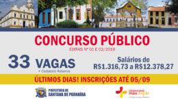 Concursos Públicos 01 e 02/2019 da Prefeitura de Santana de Parnaíba / Realização: Instituto Mais / Imagem: Divulgação