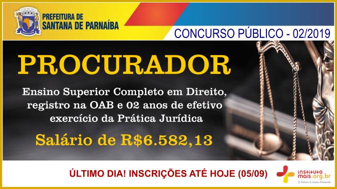 Concurso Público 02/2019 da Prefeitura de Santana de Parnaíba / Realização: Instituto Mais / Imagem: Divulgação