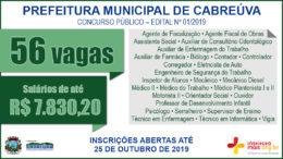 Concurso Público 01/2019 da Prefeitura de Cabreúva / Realização: Instituto Mais / Imagem: Divulgação