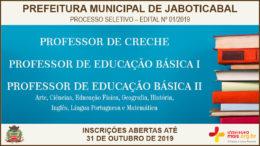 Processo Seletivo 01/2019 da Prefeitura de Jaboticabal / Realização: Instituto Mais / Imagem: Divulgação