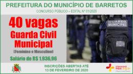 Concurso Público 01/2020 da Prefeitura de Barretos / Realização: Instituto Mais / Imagem: Divulgação