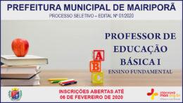Processo Seletivo 01/2020 da Prefeitura de Mairiporã / Realização: Instituto Mais / Imagem: Divulgação