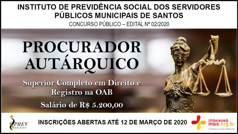Concurso Público 02/2020 do IPREVSANTOS / Realização: Instituto Mais / Imagem: Divulgação