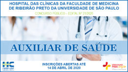 Concurso Público 21/2020 do Hospital das Clínicas da Faculdade de Medicina de Ribeirão Preto / Realização: Instituto Mais / Imagem: Divulgação