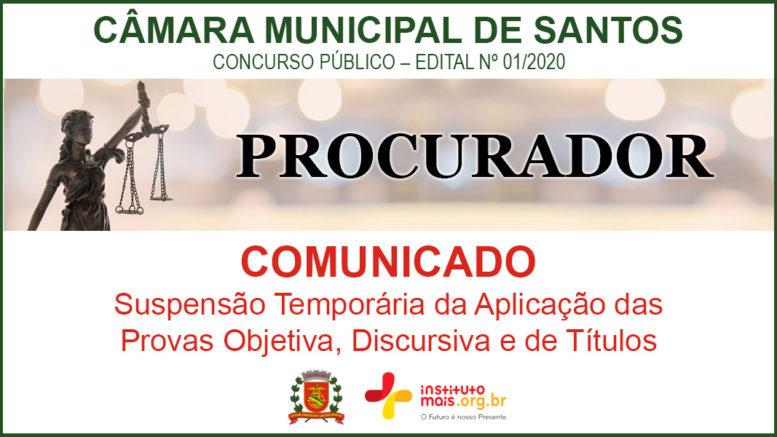 Concurso Público 01/2020 da Câmara de Santos / Realização: Instituto Mais / Imagem: Divulgação