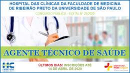 Concurso Público 22/2020 do Hospital das Clínicas da Faculdade de Medicina de Ribeirão Preto / Realização: Instituto Mais / Imagem: Divulgação