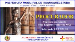 Concurso Público 02/2020 da Prefeitura de Itaquaquecetuba / Realização: Instituto Mais / Imagem: Divulgação