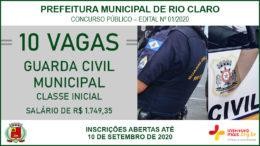 Concurso Público 01/2020 da Prefeitura de Rio Claro / Realização: Instituto Mais / Imagem: Divulgação