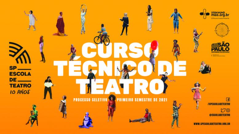 Processo Seletivo 1º Semestre de 2021 da SP Escola de Teatro / Realização: Instituto Mais / Imagem: Divulgação