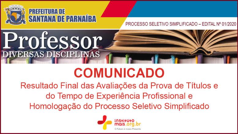 Processo Seletivo Simplificado 01/2021 da Prefeitura de Santana de Parnaíba / Realização: Instituto Mais / Imagem: Divulgação