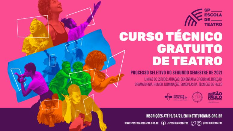 Processo Seletivo 2º Semestre de 2021 da SP Escola de Teatro / Realização: Instituto Mais / Imagem: Divulgação