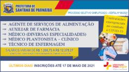 Processo Seletivo Simplificado 06/2021 da Prefeitura de Santana de Parnaíba / Realização: Instituto Mais / Imagem: Divulgação