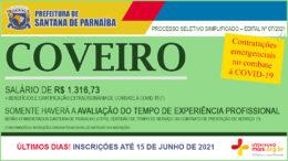 Processo Seletivo Simplificado 07/2021 da Prefeitura de Santana de Parnaíba / Realização: Instituto Mais / Imagem: Divulgação