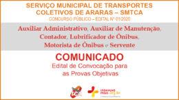 Concurso Público 01/2020 do SMTCA / Realização: Instituto Mais / Imagem: Divulgação