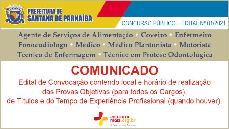 Concurso Público 01/2021 da Prefeitura de Santana de Parnaíba / Realização: Instituto Mais / Imagem: Divulgação
