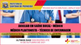 Processo Seletivo Simplificado 10/2021 da Prefeitura de Santana de Parnaíba / Realização: Instituto Mais / Imagem: Divulgação